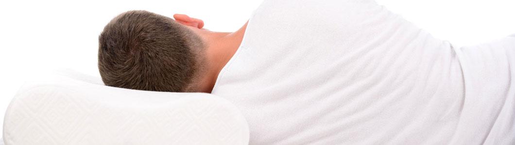 Ideale Seitenlage beim Schlafen mit den PHYSIOLOGA Nackenkissen